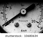 Old Vintage Manometer With The...