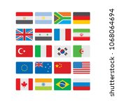 flags of the world icons set   Shutterstock .eps vector #1068064694