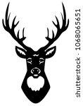 vector illustration of deer... | Shutterstock .eps vector #1068065651