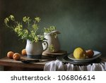 Still Life With Apricots And A...