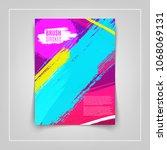artistic colorful brushstrokes... | Shutterstock .eps vector #1068069131