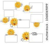 sun character vector pack  sun...   Shutterstock .eps vector #1068069899