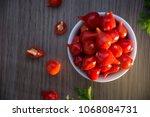 pimenta biquinho   brazilian... | Shutterstock . vector #1068084731