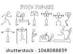 set of stick figure sportsmans. ...   Shutterstock .eps vector #1068088859