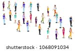 isometric business people... | Shutterstock .eps vector #1068091034
