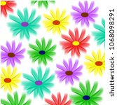 beautiful floral pattern... | Shutterstock . vector #1068098291