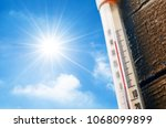 thermometer with a high... | Shutterstock . vector #1068099899