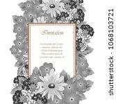 flower frame for your...   Shutterstock .eps vector #1068103721