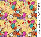 seamless hearts pattern. vector ...   Shutterstock .eps vector #1068109475