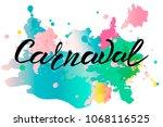 vector illustration of carnaval ...   Shutterstock .eps vector #1068116525