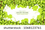 beautiful hand drawn white... | Shutterstock .eps vector #1068123761