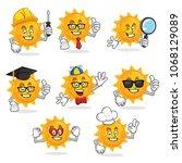 sun character vector pack  sun...   Shutterstock .eps vector #1068129089