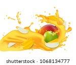yellow juice 3d illustration... | Shutterstock .eps vector #1068134777