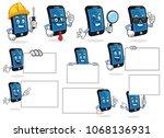 smart phone character vector...   Shutterstock .eps vector #1068136931