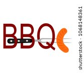 abstract bbq label | Shutterstock .eps vector #1068148361