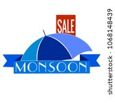 abstract monsoon sale | Shutterstock .eps vector #1068148439