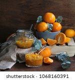 tangerine home made jam | Shutterstock . vector #1068160391