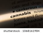 cannabis word in a dictionary.... | Shutterstock . vector #1068161984