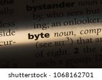 Small photo of byte word in a dictionary. byte concept.