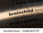 Small photo of brainchild word in a dictionary. brainchild concept.