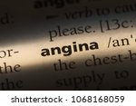 Small photo of angina word in a dictionary. angina concept.