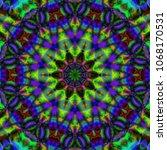 modern floral pattern. raster... | Shutterstock . vector #1068170531