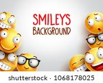 smiley vector background design ... | Shutterstock .eps vector #1068178025