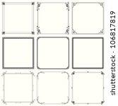 decorative frames  set 24  | Shutterstock .eps vector #106817819