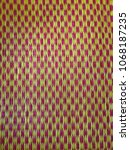 Small photo of Background color pattern alternating red and yellow patterns of colorful basketwork can alternate colors as needed.