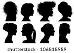 Face Woman Profile Vector...