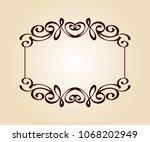 vector retro frames .vector... | Shutterstock .eps vector #1068202949