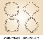set vector retro frames .vector ... | Shutterstock .eps vector #1068203375