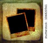 blank instant photos on grunge... | Shutterstock . vector #106820561