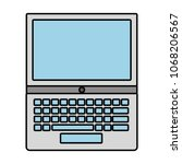 laptop keyboard digital... | Shutterstock .eps vector #1068206567