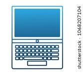 laptop keyboard digital... | Shutterstock .eps vector #1068207104