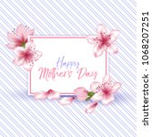 mother's day vector card.... | Shutterstock .eps vector #1068207251
