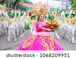 Small photo of CEBU , PHILIPPINES - JAN 21 : Participants in the Sinulog festival in Cebu city Philippines on January 21 2018. The Sinulog is the centre of the Santo Nino Catholic celebrations in the Philippines.
