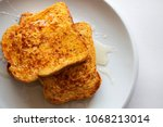 French Toasted Slices Bread An...
