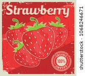 strawberry vintage retro... | Shutterstock .eps vector #1068246671