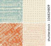 set of 4 seamless doodle... | Shutterstock .eps vector #106824809