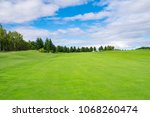 panorama view of golf course... | Shutterstock . vector #1068260474