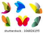 Stock vector butterflies collection 106826195