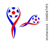 soccer logo with the ball.... | Shutterstock . vector #1068267491