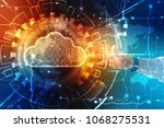 business man with cloud... | Shutterstock . vector #1068275531