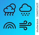 weather vector icon set... | Shutterstock .eps vector #1068291629