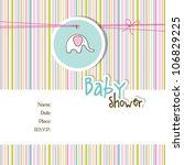 baby boy shower invitation  ... | Shutterstock .eps vector #106829225