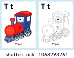 alphabet coloring book page... | Shutterstock .eps vector #1068293261