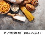 whole grain products with... | Shutterstock . vector #1068301157