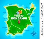 koh samui thailand island... | Shutterstock .eps vector #1068310529