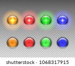 round car headlights with light ... | Shutterstock .eps vector #1068317915